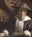 Girl with a Flute c1665 - Jan Vermeer