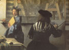 The Art of Painting Detail c1666 - Jan Vermeer