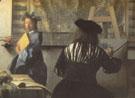 The Art of Painting Detail c1666 - Jan Vermeer