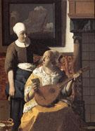 The Love Letter Detail c1669 - Jan Vermeer