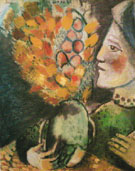 Woman with a Bouquet 1910 - Marc Chagall