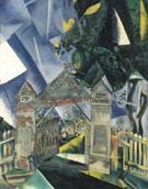 Cemetery Gates 1917 - Marc Chagall