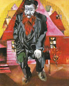 Jew in Red 1915 - Marc Chagall
