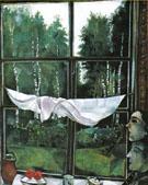 Window of the Dacia at Zaolcha Near Vitebsk 1915 - Marc Chagall