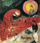 red Roofs 1953 - Marc Chagall