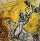 Moses Receiving the Tablets of the Law c1956 - Marc Chagall