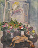 Flowers and Fowl 1929 - Marc Chagall