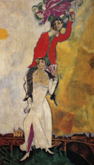 Double Portrait with Wineglass c1917 - Marc Chagall