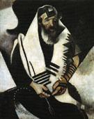 The Praying Jew Rabbi of Vitebsk 1914 - Marc Chagall