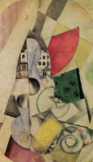 Cubist Landscape 1918 - Marc Chagall