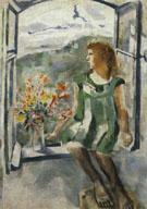 Ida at the Window 1924 - Marc Chagall
