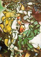 Adam and Eve 1912 - Marc Chagall