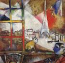 Paris Through the Window 1913 - Marc Chagall