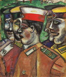 Soldiers 1912 - Marc Chagall
