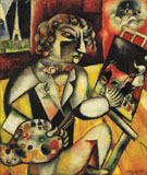 Self Portrait with Seven Fingers c1912 - Marc Chagall