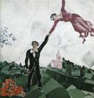 The Promenade 1917 - Marc Chagall