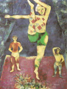 The Three Acrobats 1926 - Marc Chagall
