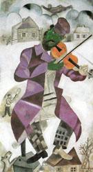 Thr Green Violinist c1923 - Marc Chagall