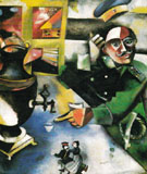 The Soldier Drinks c1911 - Marc Chagall