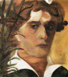 Self Portrait with Collar 1914 - Marc Chagall