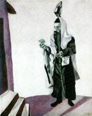 Feast Day Rabbi with Lemon 1914 - Marc Chagall