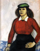 Portrait of the Artists Sister Aniuta 1910 - Marc Chagall