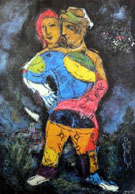 The Walk 1973 - Marc Chagall