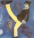 The Traveller 1914 - Marc Chagall