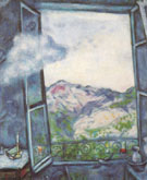 Landscape at the Cloud 1930 - Marc Chagall