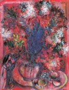 The Red Flowers 1950 - Marc Chagall