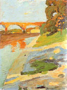 The Isar near Grosshesselohe 1901 - Wassily Kandinsky