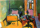Bedroom in Ainmillerstrabe 1909 - Wassily Kandinsky