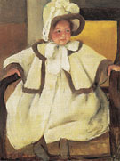 Ellen Mary Cassatt in a White Coat 1896 - Mary Cassatt