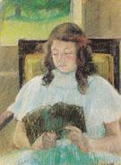 Young Girl Reading 1900 - Mary Cassatt
