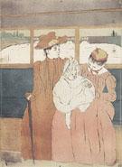 Interior of a Tramway Passing a Bridge 1890 - Mary Cassatt