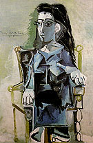 Jacqueline Seated with Her Black Cat 1964 - Pablo Picasso