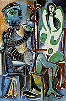The Painter and his Model 1963 - Pablo Picasso
