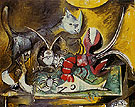 Still Life with Cat 1962 - Pablo Picasso