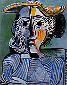 Bust of a Woman in a Yellow Hat 1962 - Pablo Picasso