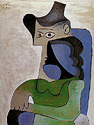 Seated Woman in a Hat 1961 - Pablo Picasso