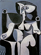Seated Woman 1962 - Pablo Picasso