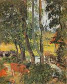 Catte Drinking 1885 - Paul Gauguin