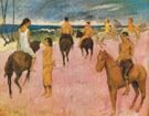 Horseman on the Beach 1902 - Paul Gauguin