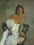 Woman with a Fan 1902 - Paul Gauguin