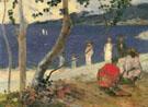 On the Coast of the Sea II 1887 - Paul Gauguin