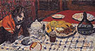 The Checkred Table Cover 1925 - Pierre Bonnard
