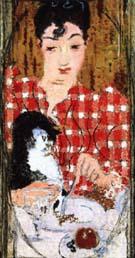 Checked Blouse Portrait of Mme Claude Terrasse the Artists Sister 1892 - Pierre Bonnard