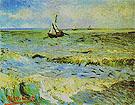 Seascape at Saintes Maries Arles eary June 1888 - Vincent van Gogh