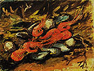 Still Life with Mussels and Shrimps 1886 - Vincent van Gogh