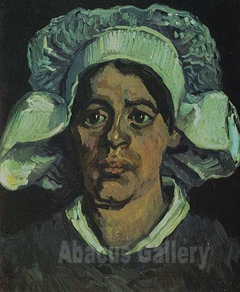 portrait woman painting. Peasant Woman Portrait of